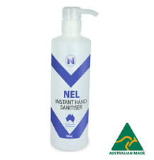6 X 500ml HOSPITAL GRADE 70% ALCOHOL HAND SANITISER WITH PUMP Nel FREE SHIPPING