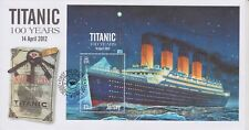 Unaddressed Jersey First Day Cover FDC 2012 Titanic 100 Years Sheet 10% off 5