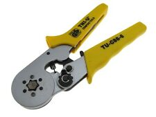HQ Ratchet crimping pliers tool for Wire Ferrules End Sleeves 6h