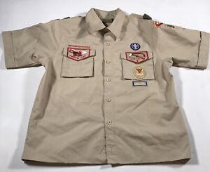 F127 Boy Scouts Of America Uniform Shirt BSA Scout USA Adult Mens Small