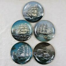 The Great Clipper Ships 1981 Franklin Limited Edition Porcelain Lot of 5