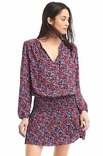 NWT Gap Mix print long sleeve dress red floral SIZE XXL Retails $69.95
