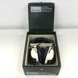 Sansui SS10 Retro Stereo Mechanical 2way Headphones in Original Box #704