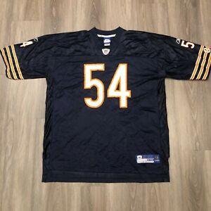 Chicago Bears Brian Urlacher #54 Reebok NFL Equipment Mens 2XL Jersey