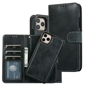 Magnetic Detachable Case Wallet Leather Card Holder Cover Apple iPhone 13 Models