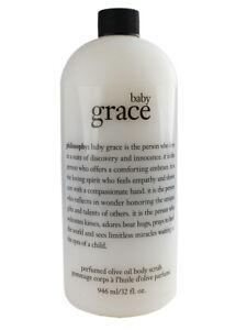 Philosophy Baby Grace Perfumed Olive Oil Body Scrub, 946ml/32oz