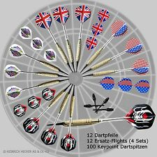 + 12 TOP Dartpfeile CHAMPION 2BA, Flights, Dartspitzen, Komplettset, Softdart +