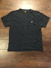 Men's Polo Ralph Lauren V-Neck T-Shirt Navy Blue Sz. Medium M