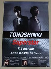 TOHOSHINKI - Super Star  (TVXQ) OFFICIAL POSTER *HARD TUBE CASE*