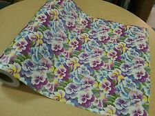 Half ream 26 inch wide purple floral gift wrap 417 feet