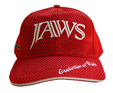 Evolution of Jaws Rods 3D Embroidery premium type fishing hat / cap Red