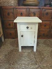 H50 W30 D30cm BESPOKE BEDSIDE HALL CUPBOARD & DRAWER TABLE UNTREATED PINE