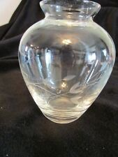 Princess House Vase 411 Heritage Collection Etched Flower Bud