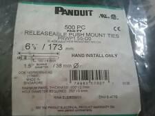 Panduit Releaseable Push Mount Black Cable Ties  500 pcs. .NEW Free Shipping