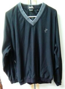 Ashworth Mens Wind & Water Resistant Long Sleeve Golf Sweater Black Large   a