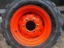 TWO  27/8.50x15 KUBOTA L3400 Loader Skidsteer Tubeless Rim Guard Tires w/Wheels