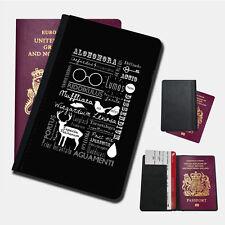 HARRY POTTER SPELL COLLAGE Passport Holder Travel  Protection Flip Cover Case