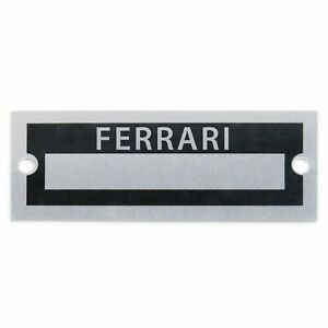 Custom Identification Data Plate Serial Number ID Tag Ferrari
