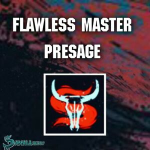 Flawless Master Presage Mission Completion Emblem | Xbox Ps4 | Pc Cross Save