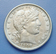 1908-O U.S. BARBER HALF DOLLAR ~ EXTRA FINE CONDITION - CLEANED