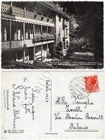 Cartolina di Riva Valdobbia, Casa Walser (seminario) - Vercelli, 1955