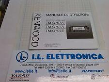 MANUALE IN ITALIANO istruzioni d'uso per KENWOOD TM-G707A