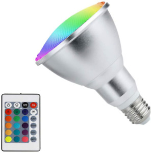 10W PAR38 RGB LED Spotlight Outdoor E27/E26 Color Changing Light Bulb Water New