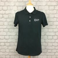 EA7 EMPORIO ARMANI MENS UK M BLACK SHORT SLEEVE POLO SHIRT DESIGNER CASUAL