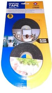 H DUTY DOUBLE SIDED FOAM STICKY TAPE 18MM X 5M WIDE ART CRAFTS MOUNTING PADDED