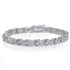 1ct TDW Diamond Miracle Set X Tennis Bracelet in Brass