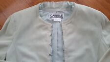 CARLISLE - Glove Suede Leather Jacket Seafoam Green  Size 8 . SRP $775. US