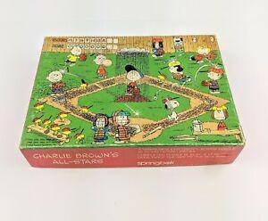 Snoopy Charlie Brown All Stars Baseball Puzzle Hallmark Springbok Peanuts VTG