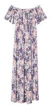 H&M Women's Short Sleeve Shift Dress, White/Botanical - Size 10