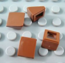 New LEGO Lot of 4 Reddish Brown 1x1x2/3 Mini Slope Pieces from 9474 7594 6253