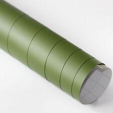 2x DIN A4 Wrapping Folie Matt Army Grün 21cm x 29,7cm Autofolie mit Luftkanälen
