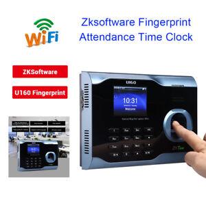 "3"" Zk U160 Biometric Fingerprint Time Attendance Clock Recorder Punch in/out"