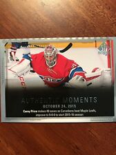 2015/16 Upper Deck SP Authentic Hockey Authentic Moments Carey Price #146