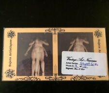 """Original Vintage Style Risque Nude Stereoview Card Artist Series """"Ghost Girl"""" #9"""