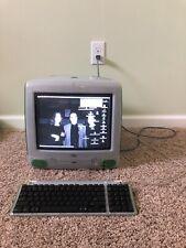 Vintage Apple iMac G3 GREEN LIME Computer PC Mac OS 9.1  WORKING w/ Keyboard!