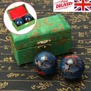 2X Chinese Health Exercise Stress Dragon Baoding Balls Relaxation Therapy