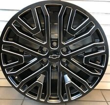 2019 Chevrolet - GMC 22x9-Inch Wheel in Low Gloss Black with Machine Face
