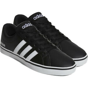 Adidas Mens Trainers Pace Black Leather Casual Shoes Low Top Sneakers UK Size