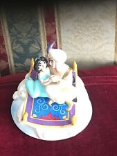 "New ListingDisney Aladdin & Jasmine on Carpet Music Box by Schmid ""A Whole New World"""