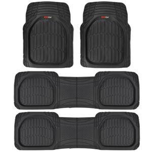Motor Trend® FlexTough Deep Dish Heavy Duty Rubber Car Floor Mats 4 PC SET⭐⭐⭐⭐⭐