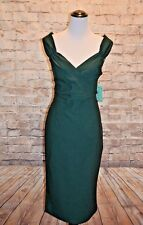 Rock Steady Diva Wiggle Dress Hunter Green 3X NWT Pinup Retro Sheath Lady Love