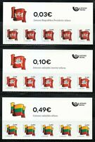 Lithuania 2019 set of self-adhesive stamps Historical flags of Lithuania ** TOP