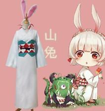 Damen Onmyoji Cosplay Anime Fasching Stylish Kostüm Kimono +Hasenohren Kleider