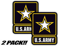 "5"" Inch US United States Army Military Decals Sticker Graphics Emblems 2 PACK"