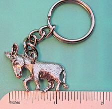 Donkey burro , mule figurine , comical - keychain Gift Boxed pewter , not gold