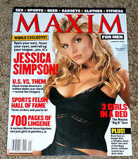 Maxim Magazine January 2002 JESSICA SIMPSON Cover (7 page layout) NO LABEL